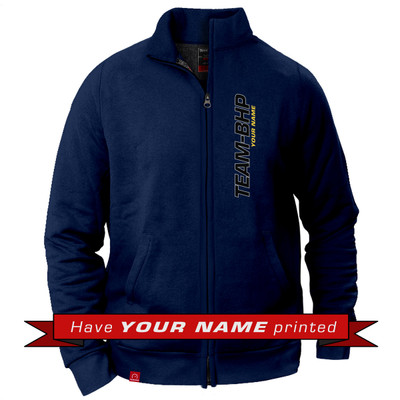 Personalized Collared Jacket (Navy Blue)