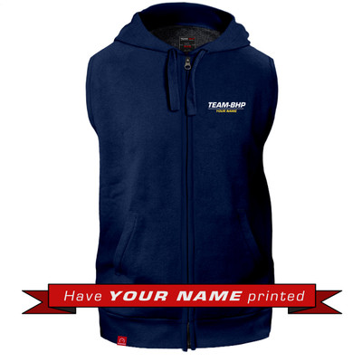 Personalized Sleeveless Hoodie (Navy Blue)