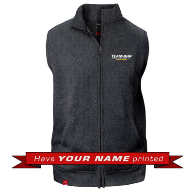 Personalized Sleeveless Collared Jacket (Anthracite Grey)
