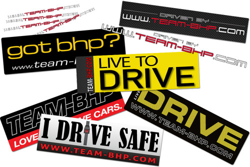 Team-BHP Full Sticker Set (11pcs)