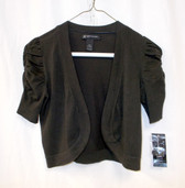 INC International Concepts Ruched-Sleeve Bolero Cardigan Brown Petite NWT