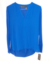 Inc International Concepts Women's Royal Blue Long Sleeve Top M NWT