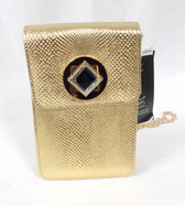 Inc Concepts Gold Faux Leather Shoulder Handbag Purse Chain Strap 6 x 4 inches NWT