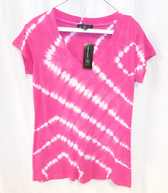 INC International Concepts Berry Pink Petite Cap-Sleeve Tie-Dye Tee PL NWT