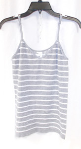 Energie Juniors Striped Cami Top Grey White L NWT