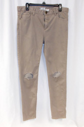 Free People Destroyed Skinny Jeans Tan 31 NWT