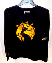 Halloween Purrfectly Scary Long Sleeve Shirt Womens Small NWT