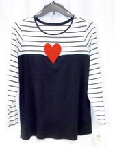 Charter Club Womens Plus Beaded Striped Colorblocked Casual Top 2X NWT