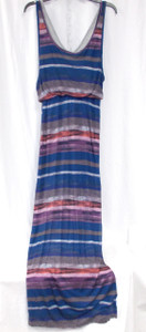 Chelsea Sky Womens Printed Layered Maxi Dress Multi S NWT