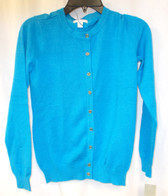 Charter Club Textured Cardigan Women's Turquoise Sweater S NWT