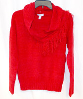 Charter Club Red Detachable-Collar Sweater Women's Petite S NWT