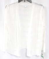Charter Club Bright White 3/4 Sleeve Bolero Sweater  L NWT