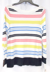 Charter Club Women's Striped Boatneck Pullover Sweater Multi S NWT