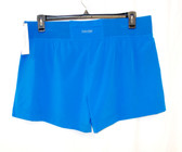 Calvin Klein Performance Womens Active Tulip Leg Short Radiant Blue L NWT