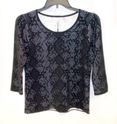 Calvin Klein Womens Long Sleeve Sweater With Snake Detail Black M NWT