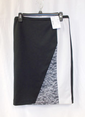 Calvin Klein Collection Printed Color Block Pencil Skirt Static Black White S NWT