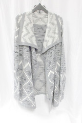 G.H. Bass & Co Womens Mixed Jacquard Knit Grey Dusk Combo M NWT