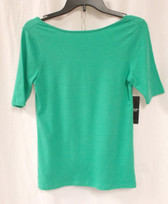 American Living Boat-neck Crisscross-back Top April Green S NWT