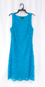 American Living Womens Lace Sheath Cocktail Dress Turquoise Blue 2 NWT