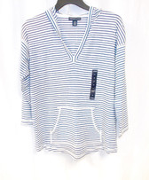 American Living Striped Hooded Top Size M NWT