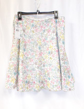 American Living Womens Floral Print Lined A-Line Skirt Ivory  6 NWT