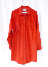 G.H. Bass & Co Womens Corduroy Shirtdress Red S NWT