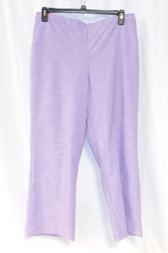 Alfred Dunner Shaker Heights Pull On Pants Lilac 18 Short NWT
