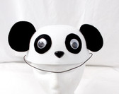 Panda Felt Hat Black White Animal Costume 21.5 Inch OSFM NIP