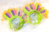 Birthday Candles Pink Yellow Green Headband Party Set 12 OSFM NWT