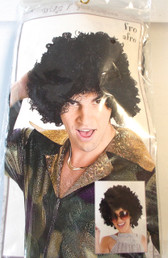 Adult Black Color Afro Wig