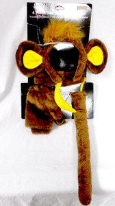 Saum 4 Piece Deluxe Accessory Kit Brown Monkey Business Adult 14+