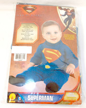 Rubies Costume Man Of Steel Superman Romper Removable Cape Blue Red 0-6 Months NIP