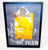 """Kohl's Celebrate Fall Together Go Team Football Playbook Clipboard Picture Frame 10.25"""" NWT"""