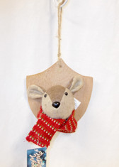 Winter Woods Mouse Mounted Trophy Christmas Ornament Gift 5x7 Inch NWT