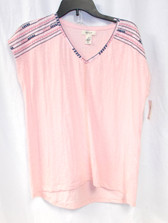 Style & Co Womens Embroidered Top Summertime Lily S NWT
