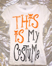 This is My Costume Halloween T-shirt Juniors L New