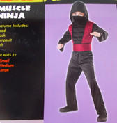 Muscle Ninja Child Costume Jumpsuit Medium NIP