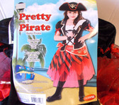 Pretty Pirate Red Black Child Costume Hat 10-12 NIP