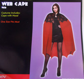 Red Web Cape Spiderweb Adult Costume OSFM NIP