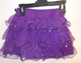 Purple Stardot Ruffled Skort Child Costume 7-8 NWT