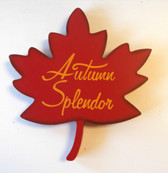 Autumn Splendor Wood Autumn Splendor Leaf Sign Wall Hanging Decor 11' NWT