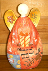 Angel Resin Carved Wood Bless Us All Great & Small 10' NWT