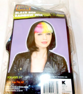 Black Bob Rainbow Wig Adult One Size Fits Most 3+ NIP