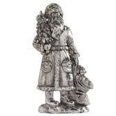 Silver Santa Holding Tree Holiday Christmas Home Decor 5'  NeW