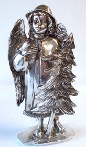 Angel Tree Silver Resin Figurine Christmas Decor 7.5' NIP