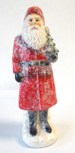 Sugared Santa Red Tree Figurine Christmas Home Decor 8' NIP