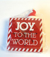 Joy to the World Santa Hat Block Sign Christmas Decor 7' NIP