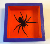 Spider Orange Purple Wood Halloween Sign Decor 5' NeW