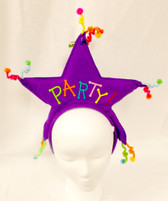 Purple Star Party Animal Birthday Headband Costume NWT