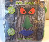 Flickering Red Evil Eyes Tree Face Green Nose Purple Mouth Light-up NIP